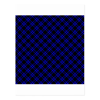 Three Bands Small Diamond - Blue on Black Postcard