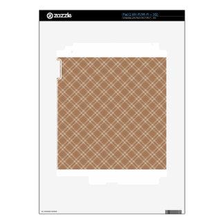 Three Bands Small Diamond - Brown2 iPad 2 Decals
