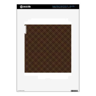 Three Bands Small Diamond - Dark Brown1 iPad 3 Decals