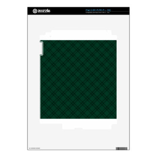 Three Bands Small Diamond - Dark Green1 Skin For The iPad 2