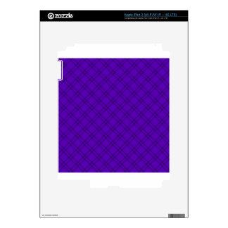 Three Bands Small Diamond - Dark Violet1 Skin For iPad 3