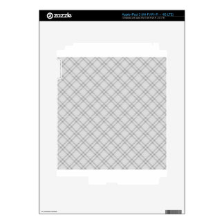 Three Bands Small Diamond - Gray1 Decal For iPad 3