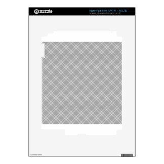 Three Bands Small Diamond - Gray2 Decal For iPad 3