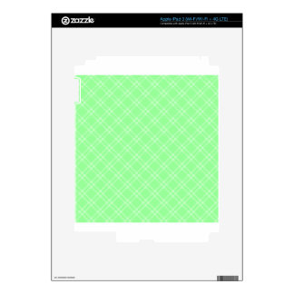 Three Bands Small Diamond - Green2 iPad 3 Skins