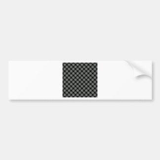 Three Bands Small Diamond - Honeydew on Black Car Bumper Sticker