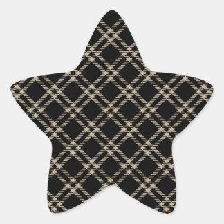 Three Bands Small Diamond - Khaki on Black Star Stickers