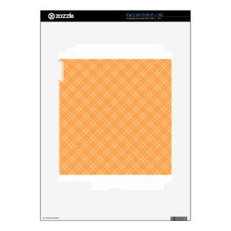 Three Bands Small Diamond - Orange2 iPad 2 Skins