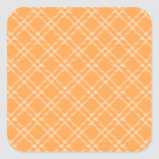 Three Bands Small Diamond - Orange2 Square Sticker