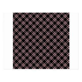 Three Bands Small Diamond - Pink on Black Postcard