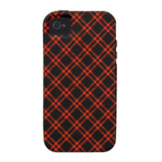 Three Bands Small Diamond - Scarlet on Black iPhone 4 Cover