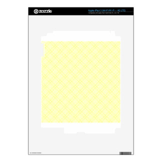 Three Bands Small Diamond - Yellow1 iPad 3 Decal