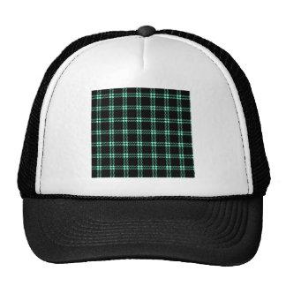 Three Bands Small Square - Aquamarine on Black Trucker Hat