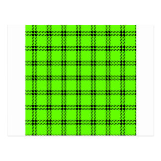 Three Bands Small Square - Black on Bright Green Postcard