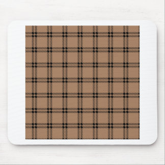 Three Bands Small Square - Black on Cafe au Lait Mouse Pad