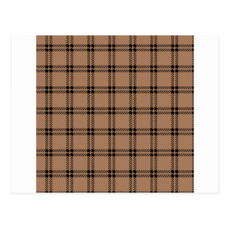Three Bands Small Square - Black on Cafe au Lait Postcard