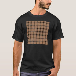 Three Bands Small Square - Black on Cafe au Lait T-Shirt