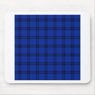 Three Bands Small Square - Black on Imperial Blue Mouse Pad