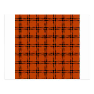 Three Bands Small Square - Black on Mahogany Postcard