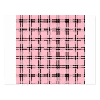 Three Bands Small Square - Black on Pink Postcard