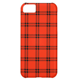 Three Bands Small Square - Black on Scarlet Case For iPhone 5C