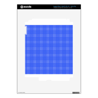 Three Bands Small Square - Blue2 iPad 3 Decal