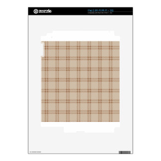 Three Bands Small Square - Brown1 Skins For The iPad 2