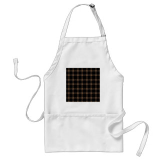 Three Bands Small Square - Cafe au Lait on Black Aprons