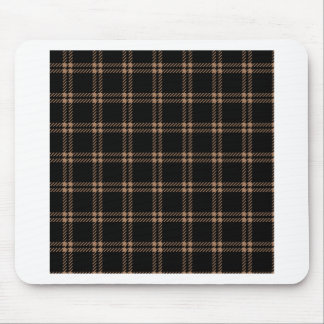 Three Bands Small Square - Cafe au Lait on Black Mouse Pads