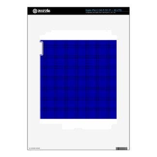 Three Bands Small Square - Dark Blue1 iPad 3 Decal