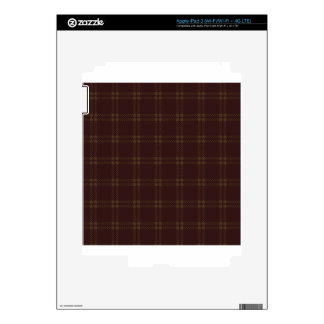 Three Bands Small Square - Dark Brown2 Decal For iPad 3