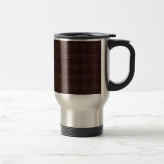 Three Bands Small Square - Dark Brown2 Travel Mug