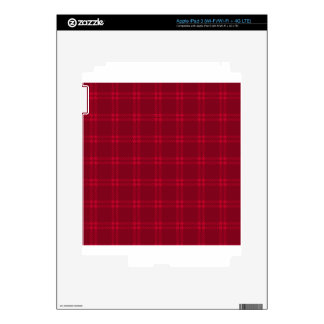 Three Bands Small Square - Dark Red2 iPad 3 Skins