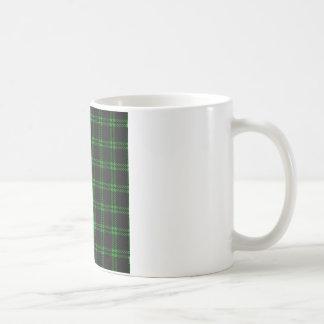 Three Bands Small Square - Green on Black Coffee Mug