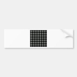 Three Bands Small Square - Honeydew on Black Car Bumper Sticker
