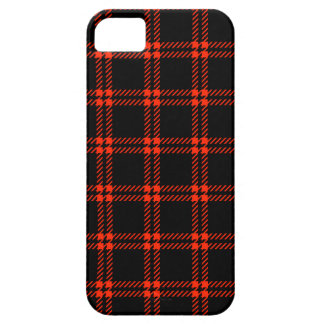 Three Bands Small Square - Scarlet on Black iPhone 5 Covers