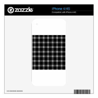 Three Bands Small Square - White on Black Skin For The iPhone 4S