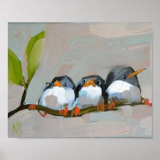 three barn swallows archival print by moulton