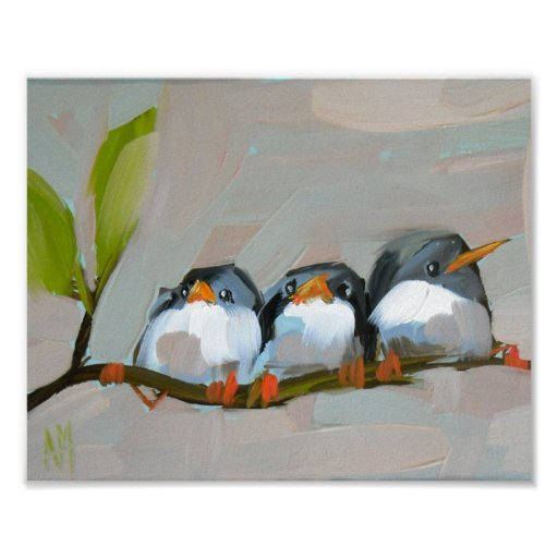 three barn swallows archival print by moulton