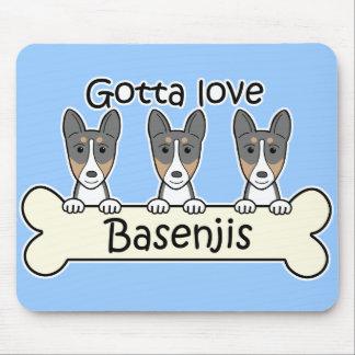 Three Basenjis Mouse Pad