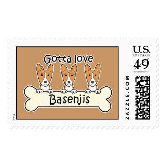 Three Basenjis Postage