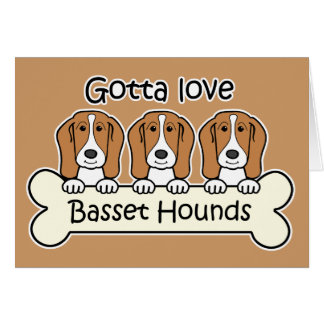 Three Basset Hounds Stationery Note Card