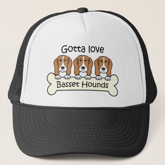 Three Basset Hounds Trucker Hat