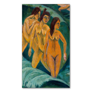 Three Bathers (females nudes) ~.jpg Magnetic Business Card