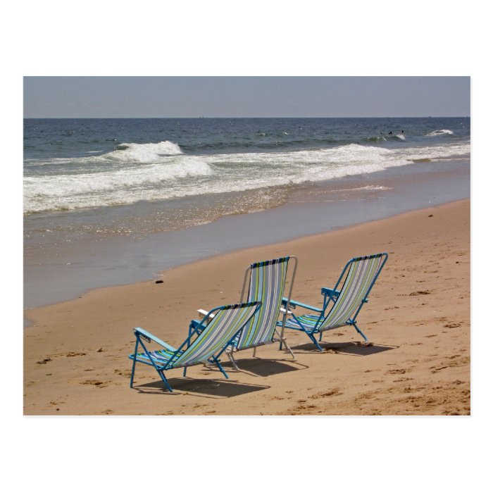 Three Beach Chairs Postcard
