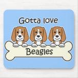 Three Beagles Mouse Mats