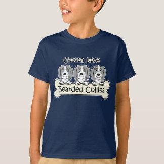 Three Bearded Collies T-Shirt