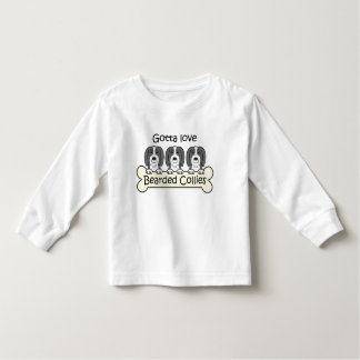 Three Bearded Collies Toddler T-shirt