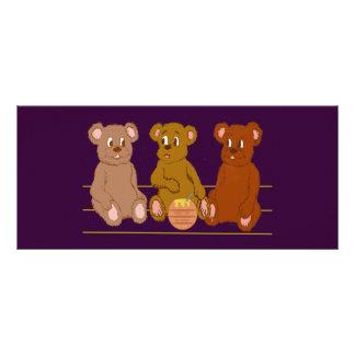 Three Bears Bookmark Rack Card
