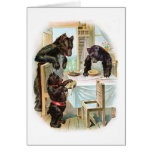 Three Bears Eat Porridge Greeting Cards