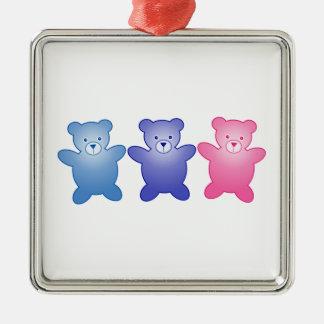 Three Bears Metal Ornament